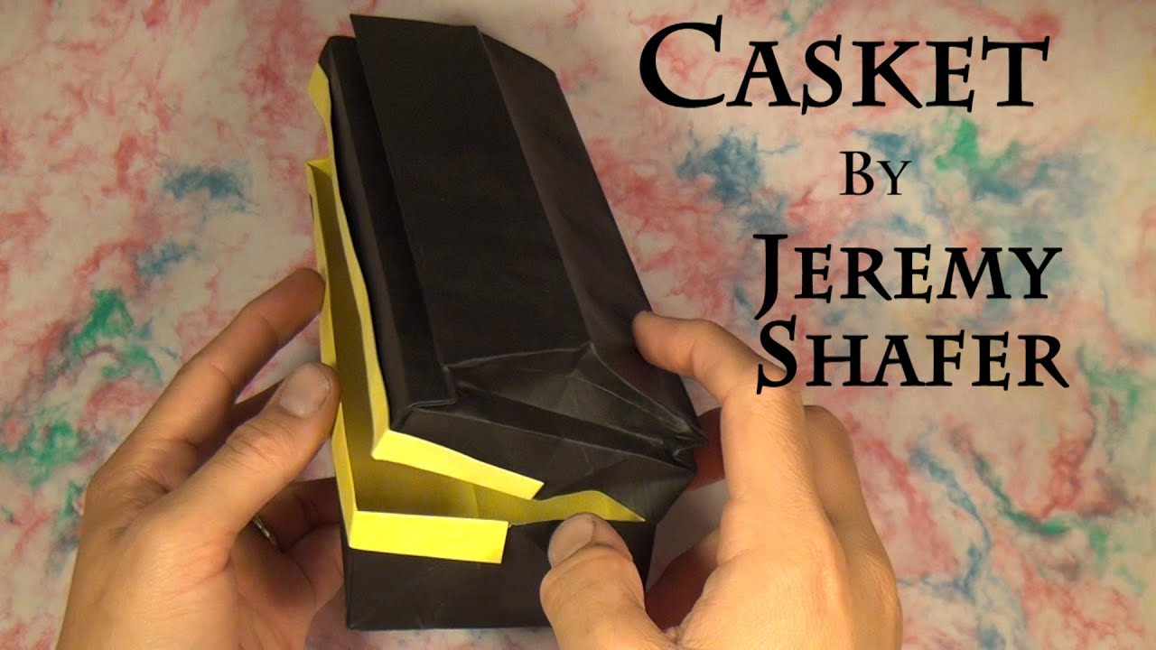 Papercraft Origami Casket by Jeremy Shafer