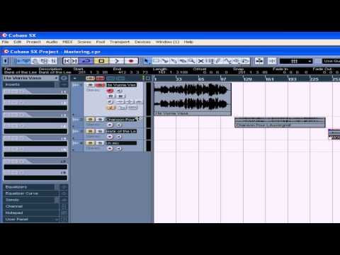 cubase sx 3 tutorial lesson 35 mastering youtube rh youtube com Steinberg Cubase Tutorial Cubase Le