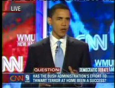 Democratic Presidential Debate Barack Obama I 6/3/2007