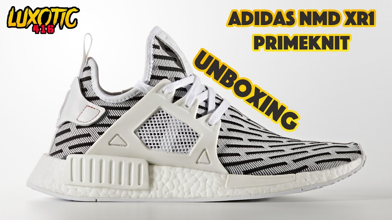 Adidas NMD XR1 PK White Unboxing Video at Exclucity