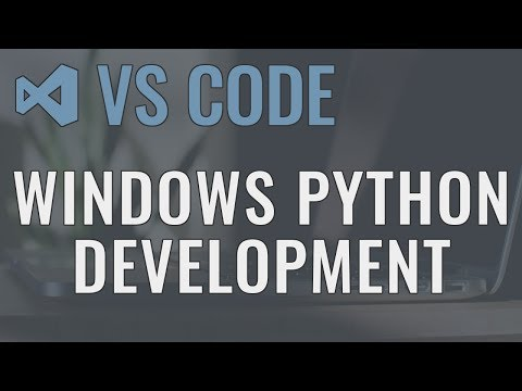 Visual Studio Code (Windows) - Setting up a Python