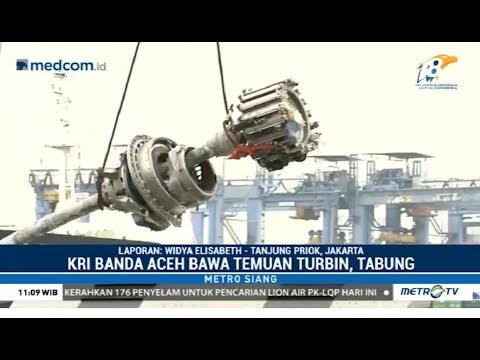Detik-detik Turbin Lion Air PK-LQP Diturunkan dari KRI Banda Aceh