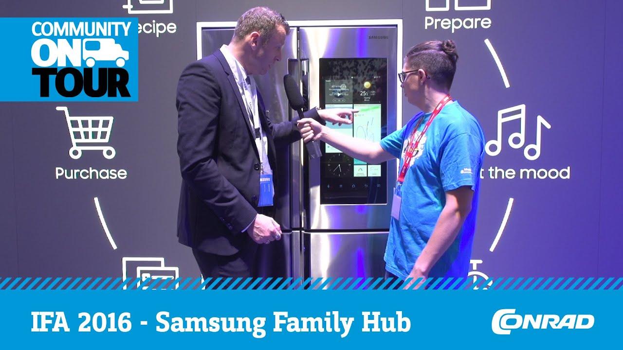 Side By Side Kühlschrank Conrad : Ifa 2016 family hub der smarte kühlschrank von samsung conrad