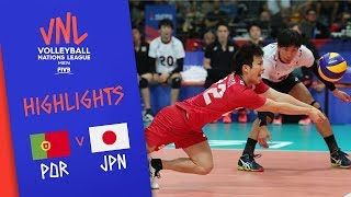 PORTUGAL vs. JAPAN - Highlights Men | Week 5 | Volleyball Nations League 2019