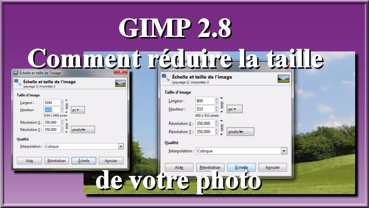 GIMP 28 Comment Rduire La Taille De Votre Photo