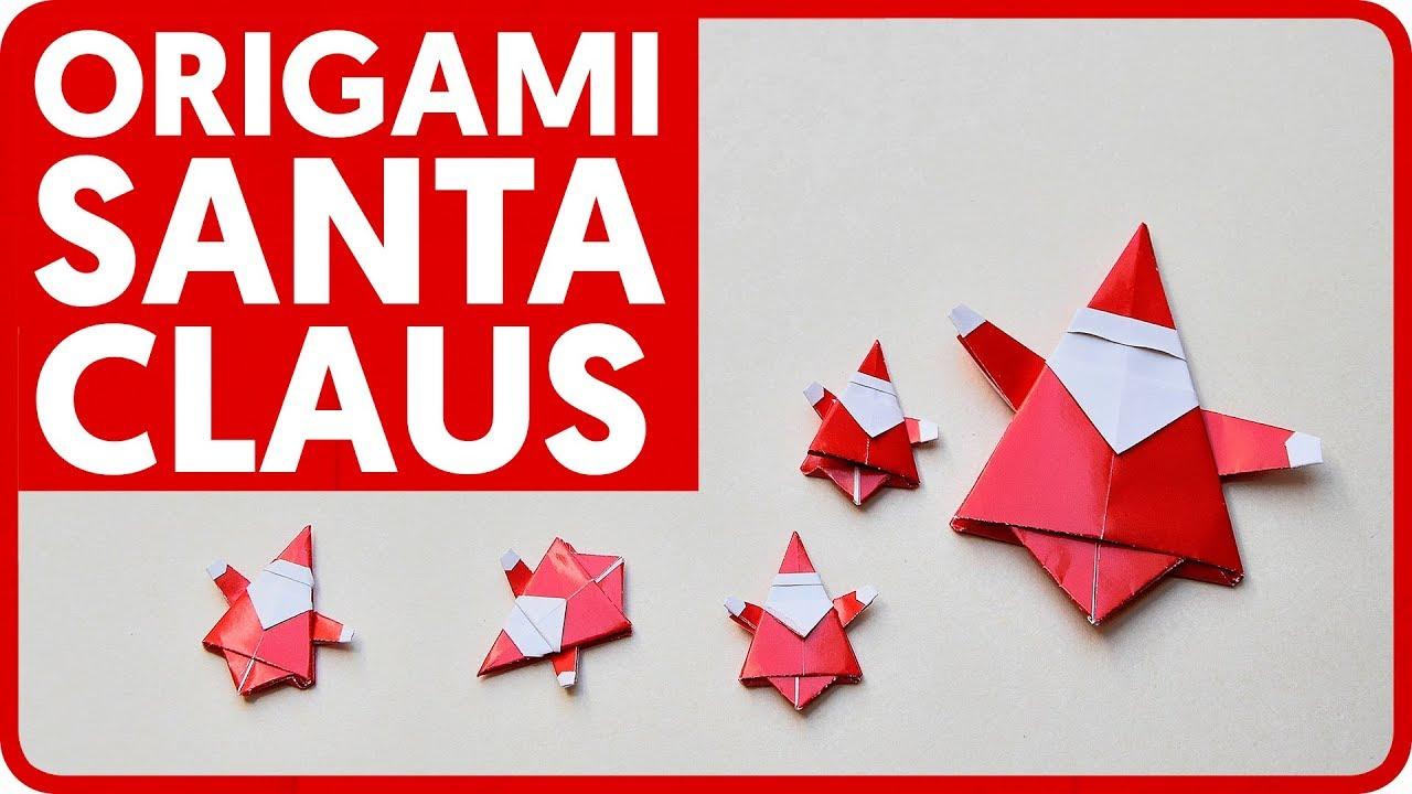 Diagram origami santa claus mr yukihiko matsuno youtube for Make origami santa claus