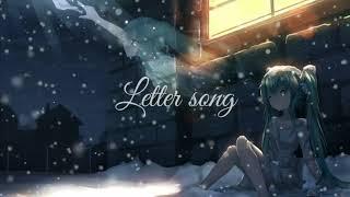 (Lagu sedih paling nyentuh hati) Letter song - Hatsune miku *Cover Wotamin