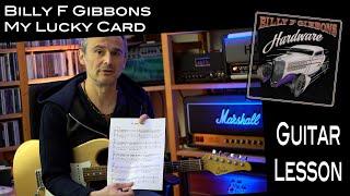 My Lucky Card (Billy F Gibbons) - Rhythm Guitar - Lesson / Tutorial (ZZ Top)