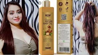 WOW Skin Science Moroccan Argan Hair Oil Review & Demo  (ये तेल आपके बालों को Shiny & long bnayega)