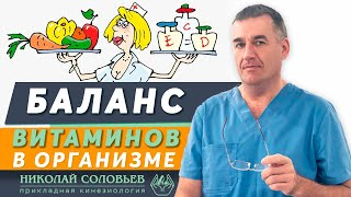 Баланс организма. Важные витамины для коррекции здоровья. Баланс витаминов и продуктовый минимум