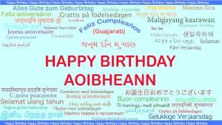 Aoibheann   Languages Idiomas - Happy Birthday