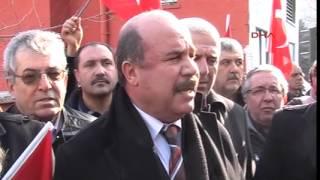 AK Partili Babuşcu'ya MHP'lilerden siyah çelenkli protesto