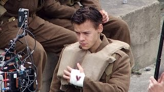 Harry Styles NEW Pics On The Set Of 'Dunkirk'
