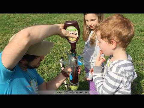 Ice Cream Sundae Toppings IN A WATER ROCKET!!? (alternative fuels test)