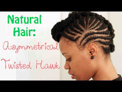 Short 4c Natural Hair Styling Option The Fauxhawk Youtube