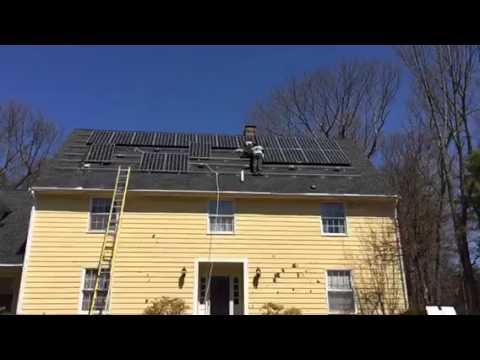 How to install Solar panels roof