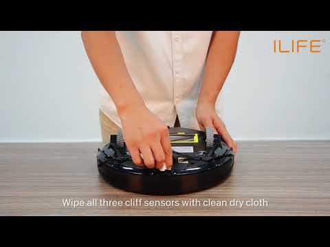 How to clean the cliff sensors   ILIFE A6 Robot Vacuum Cleaner
