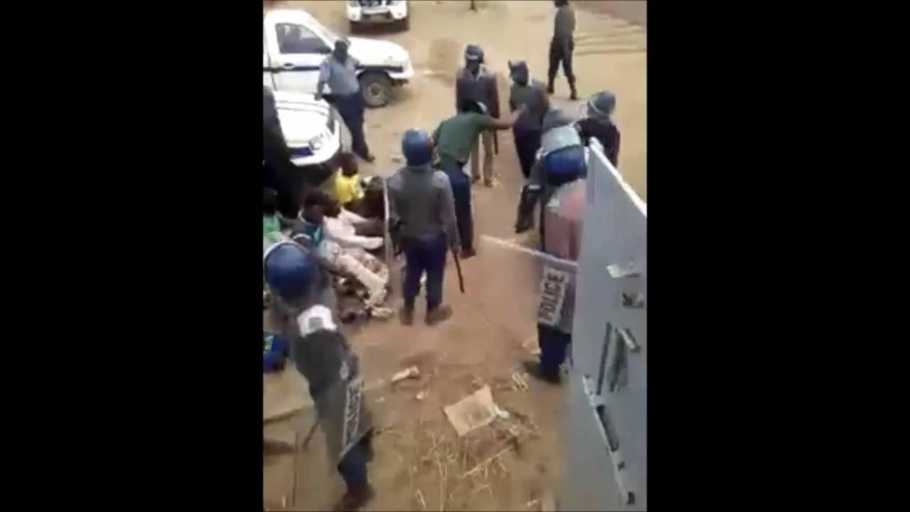 Harare Zimbabwe  - Zimbabwe Police Beating (ZRP) Arrested Protestors In Custody!