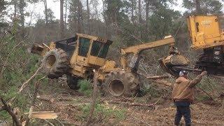 Movin In The Log Loader! Stuck Truck Skidder Dozer Logging