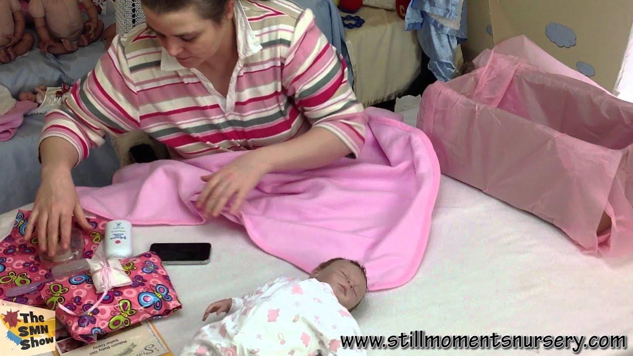 Reborn baby girl Sailor Daisy box packing