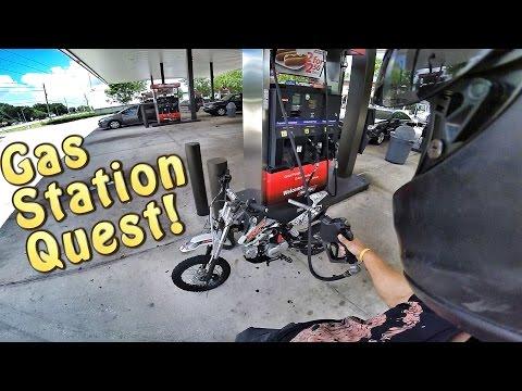 Pit Bike Adventures   Gas Station Quest!