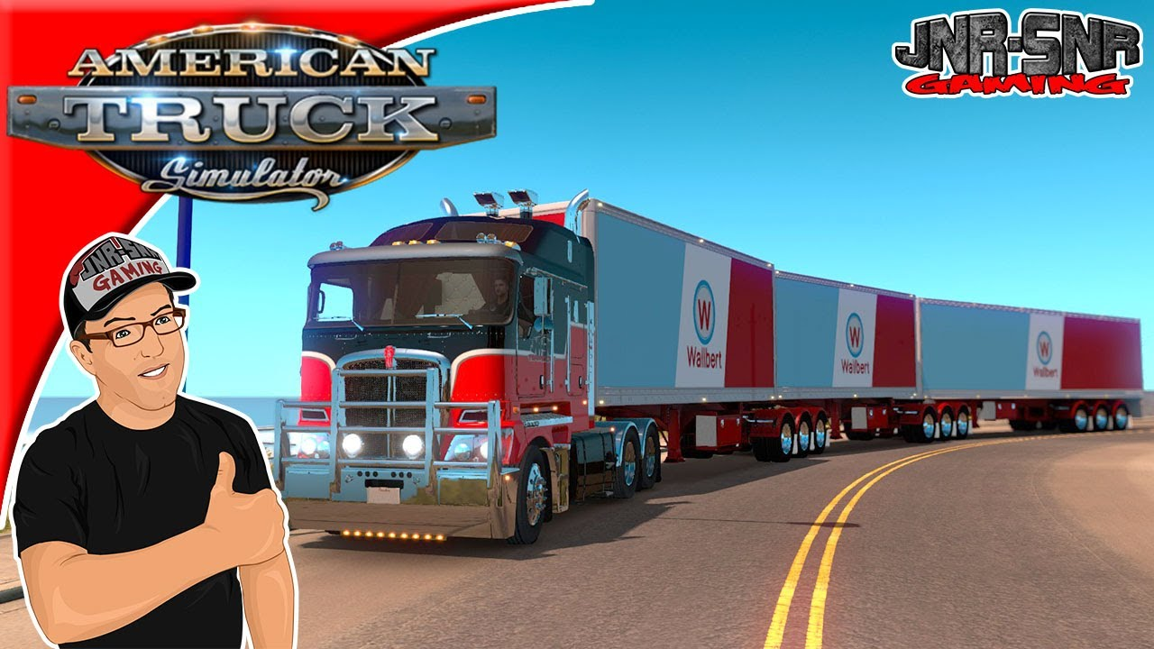 american truck simulator b doubles b triples and road. Black Bedroom Furniture Sets. Home Design Ideas