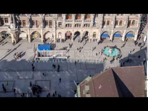 0054 - time lapse - People in Marienplatz Munich - 4K