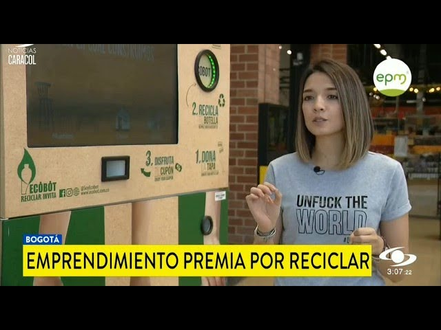 Ecobot, un emprendimiento que premia por reciclar