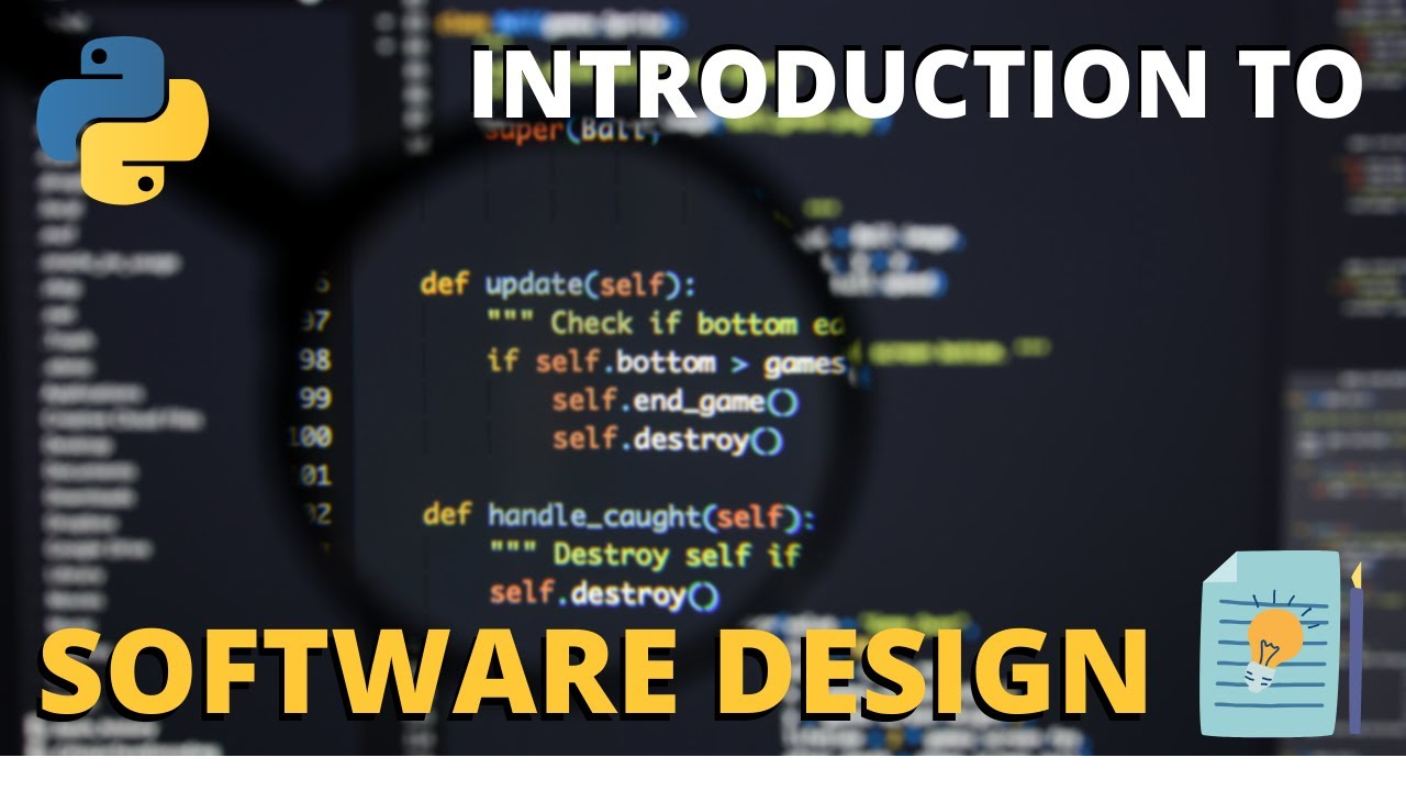 An Introduction To Software Design With Python Youtube