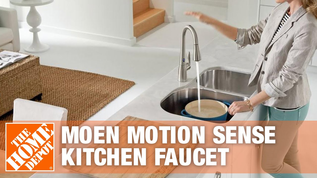 Moen Motion Sense Kitchen Faucet   YouTube