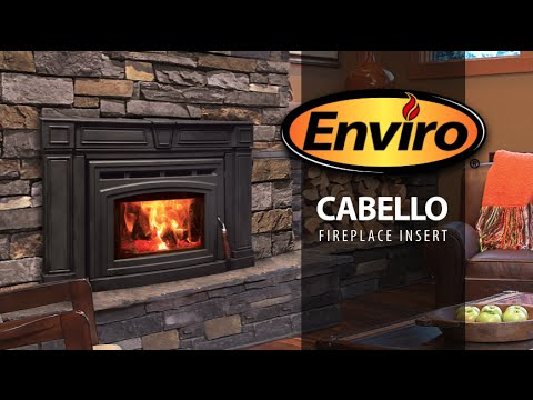 Cabello Cast Iron Wood Fireplace Insert Burn Example