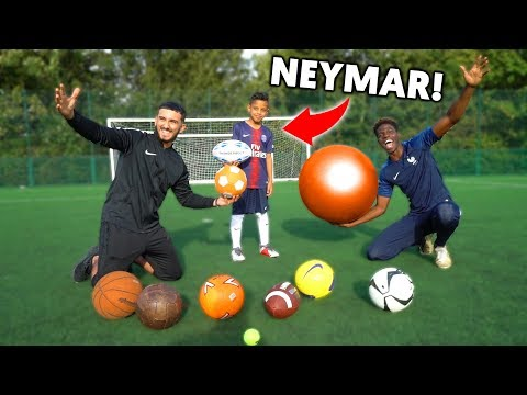 ALL SPORTS MULTI-BALL CHALLENGE vs NEYMAR JR!!