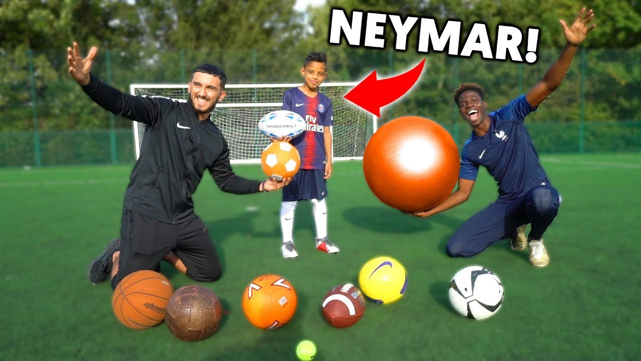 9 YEAR OLD KID vs 19 YEAR OLD AT SOCCER!! WE FOUND KID NEYMAR JR!!