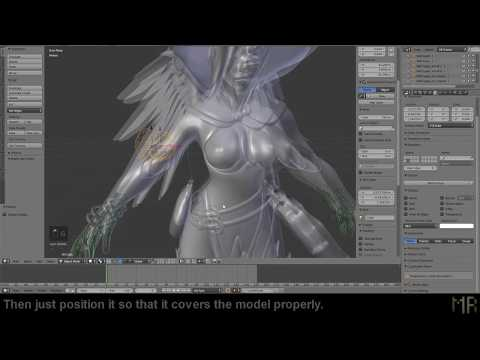 [8min.Tutorial] Easier breast +  character physics with collision in Blender.