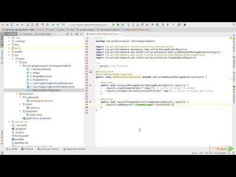 Learning Spring Boot : Configuring WebSocket Support on the Server Side | packtpub.com
