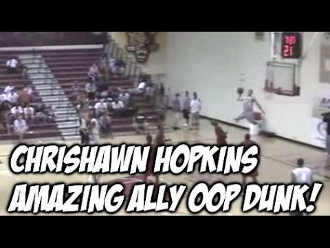 """6'1"""" Chrishawn Hopkins JUMPS OUT THE GYM for the Ally Oop 