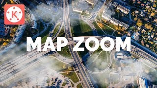 How to make a MAP ZOOM or DRONE EFFECT in Kinemaster | KineMaster Tutorials