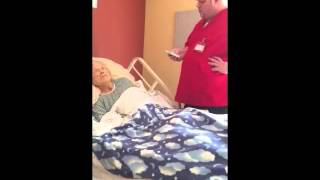 he checked on his mom while in hospice care what he found the nurse doing omg