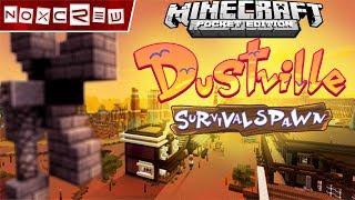 Minecraft Pocket Edition 1.1 Dustville Survival Spawn Livestream