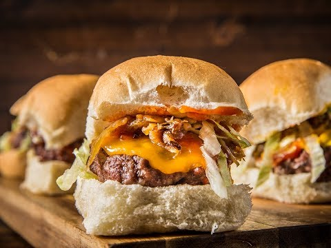 Grilled Beef Sliders with Caramelized Onions by Amanda Haas | Traeger Wood Pellet Grills