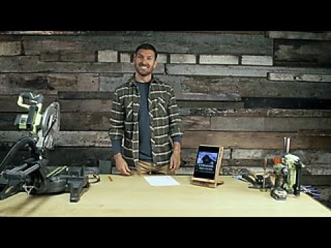 How to Make a Barnwood Tablet Stand - DIY Network
