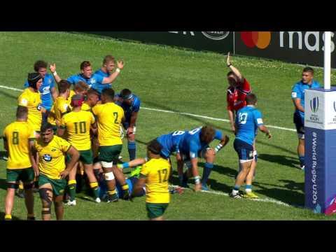 U20 Highlights: Australia score six tries v Italy