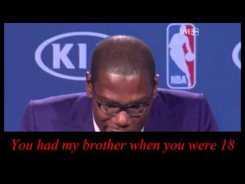 Kevin Durant MVP speech with subtitles