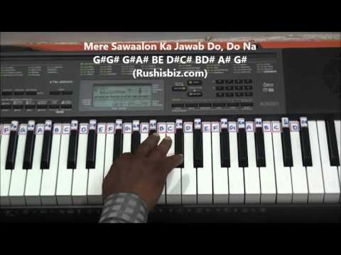 Mere Rang Mein Rangne Wali (Piano Tutorials) - Maine Pyar Kiya