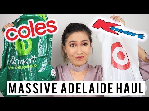 MASSIVE ADELAIDE HAUL - Lifestyle & Beauty (Kmart, Target, JB Hi Fi, Coles)   Tiara S. Dusqie