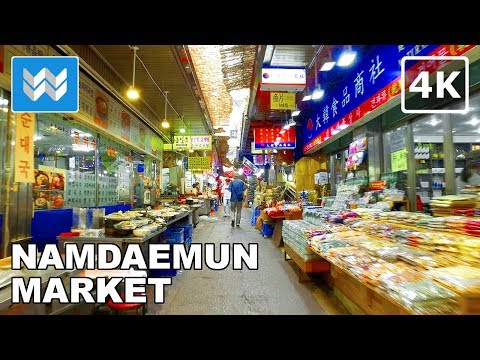 Walking around Namdaemun Market in Seoul, South Korea 【4K】 🇰🇷