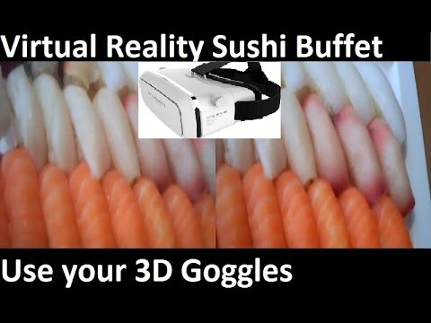 Virtual Reality Sushi - All you can eat boston #3D #VR #sushi