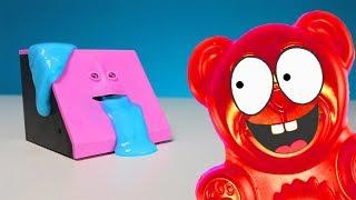 Lucky Bär füttert seine Facebank mit Schleim