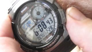 casio men s world time black illuminator digital watch review
