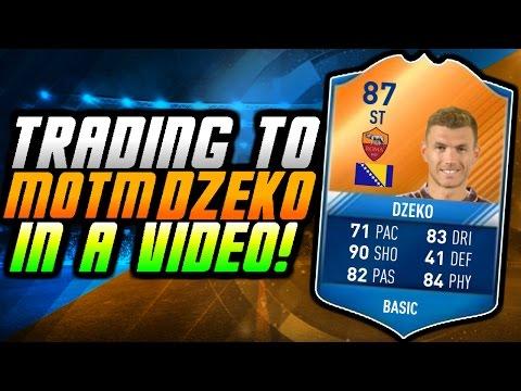 FIFA 17 UT - TRADING TO MOTM DZEKO IN A VIDEO/DAY! (Fifa 17 Trading Series)